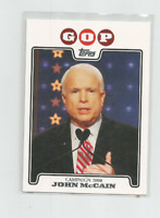 JOHN McCAIN  2008 TOPPS CAMPAIGN AND 2009 TOPPS HERITAGE CARD #136