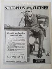1920 Styleplus Mens Clothes Candlestick Telephone Original Fashion Clothing Ad