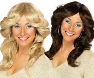 70S 80s Disco Diva Flick Wig Farrah Fawcett Charlies Angels Ladies Costume Wig