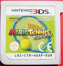 3DS Mario Tennis Open Not For Resale Rare Game Demo