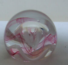 "Caithness Moon Crystal Glass LAVA Twist controllata bolla fermacarte 2.25"""