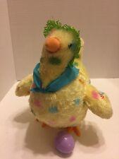 Hallmark Mama Animated Squawkin Egg Laying Chicken Sings & Lays Egg Green Hat