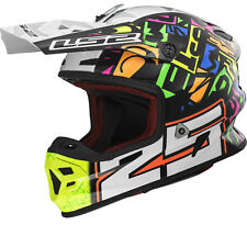 NEW LS2 MX456 LIGHT PUNCH FIBRE GLASS M/X HELMET, SIZE SMALL, RRP £199.99