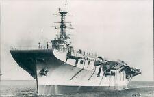 Postcard Sized Photo Australian Aircraft Carrier Melbourne