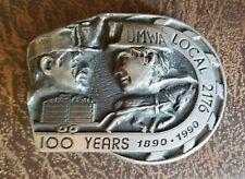 New listing Umwa 100 Years Belt Buckle Local 2176 1890 1990 161 Gary Prazen Mine Workers