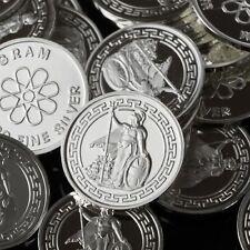 """Britannia / Warrior"" Lot of 10, 1 gram .999 Fine silver bullion round. (Coin)"