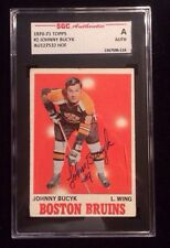 JOHNNY BUCYK 1970-71 TOPPS HOF Autographed Signed HOCKEY Card SGC 2 BRUINS FG