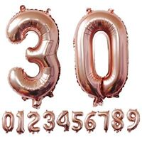 "Rose Gold Helium 40""/32"" Birthday Party Number Foil Balloons 0123456789 Decor"