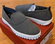 "$495 Mens Salvatore Ferragamo ""Clay"" Slip-on Sneakers Charcoal US 11"