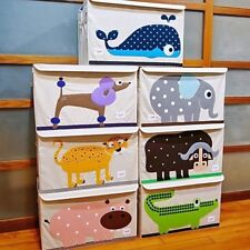 Kids Children Toys Storage Chest Bin Box Large Foldable Animal Room Decor