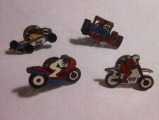 Lot de 4 Pin's ELF - MOTOS & AUTOS FORMULE 1