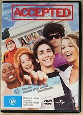 Accepted (Justin Long & Jonah Hill) DVD in EXCELLENT condition (Region 2/4/5)