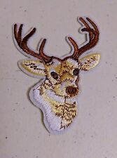 "DEER HEAD 3-5/8"" x 2-5/8"" iron on patch applique (#6)"