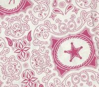 Saddle Up pink western children kids Riley Blake fabric
