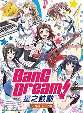 DVD Anime BanG Dream! Vol. 1-13 End *ENGLISH SUBTITLE* + Free Gift