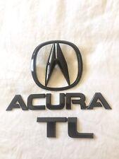 Acura Tl Black Emblem Badges Complete Set GENUINE OEM** 2004 05 06 07 08