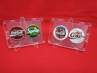 1993 Coca-Cola Bottling Company Of Hawaii set of 4 pogs Diet Coke Sprite FRAMED!