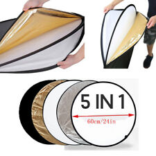 """Portable Multi Disc 23"""" Photography  Light Reflector 5-in-1 Circular Collapsible"""