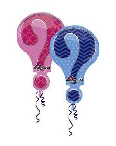 """28"""" Anagram Double Sided Gender Reveal Mylar Foil Balloon"""