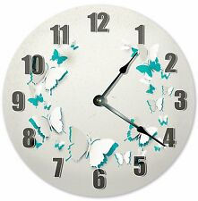 "10.5"" BUTTERFLY CUTOUTS CLOCK - Large 10.5"" Wall Clock - Home Décor Clock - 3193"