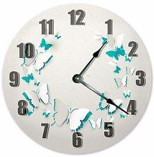 "10.5"" BUTTERFLY CUTOUTS CLOCK - Large 10.5"" Wall Clock - Home Décor Clock - 3193"