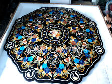 "60"" Octagon Semi Precious  Pietra Dure Marble Inlay Dining Table Top"