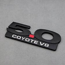 3D Metal 5.0 COYOTE V8 Black Badge 5.0L Racing Sport Emblem Car Sticker Decal