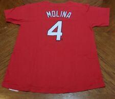 Majestic MLB St. Louis Cardinals Yadier Molina #4 Shirt Jersey Kids XL (Red)