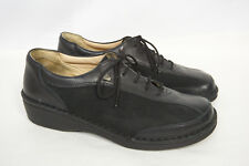 FINN COMFORT Hanoi Black Leather Lace up Oxford Casual Shoes Women 38 - 7 7.5