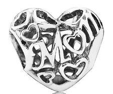 New Authentic Pandora Bead Openwork Motherly Love Mom Charm New 791519