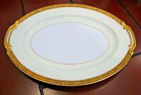 "Noritake Japan Goldkin # 100332 - Small Oval Serving Dish - 11 3/4"" L x 8 3/4""W"