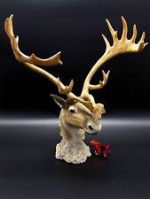 Buck Deer Dennis Franzen Statue 2001 Roman Exclusive hunters gift 12 x 14
