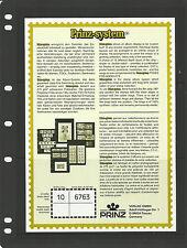 PRINZ 3 STRIP BLACK STAMP ALBUM STOCK SHEETS Pack of 10 - each Pocket 82mm High