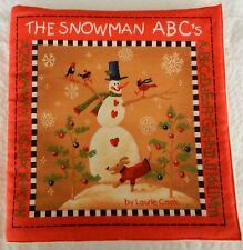 The Snowman ABC's  Fabric Book