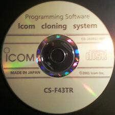 Icom CS-F43TR Programming Software for Icom IC-F43TR