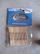 Classics Dollhouse Wood Accessory Fence Posts 70209 Mib