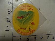 vintage luggage decal/sticker--PARK HOTEL HAARLASS Heigelberg Germany