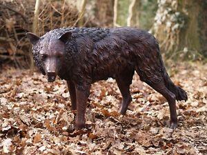 Bronzeskulptur Wolf