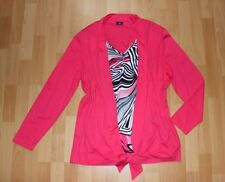 Lebek Langärmelige Bluse Blusenjacke 46 Shirt Tunika Stretch Viscose Rosa Pink