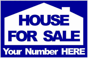 HOUSE FOR SALE SIGN  APARTMENT OR FLAT- CORREX - A4 OR A3 - FULLY WEATHERPROOF