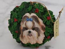 """All Decked Out"" Danbury Mint Shih Tzu Season Christmas Ornament~Preowned"