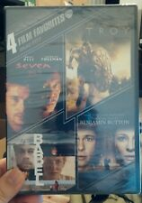 Brad Pitt: 4 Film Favorites (DVD, 2013, 4-Disc Set)NEW - Seven/Troy/Babel/Button