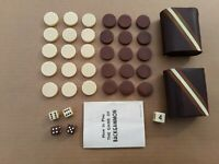 Backgammon Replacement Pieces. Men, Dice, Dice Cups. Board Games. Toys