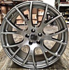 22x10 Rims Hyper Silver Wheels Hellcat Style Fit Dodge Durango RT Jeep Cherokee