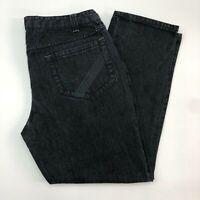 Verdigo Denim Jeans Mens 40X30 Black Regular Fit 100% Cotton Dark Wash 5 Pockets