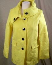 H&M Jacket Yellow Coat Button Down Solid Women's Size 6