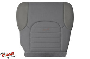 For 2005 to 2019 Nissan Frontier XCab S-Driver Side Bottom Cloth Seat Cover Gray