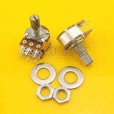 2 pcs B20K Ohm Dual Linear Rotary Potentiometer Pot 20mm Shaft 6 Pins