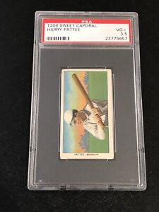 T206 Sweet Caporal 150 Harry Pattee PSA 3.5 Tobacco Card Brooklyn