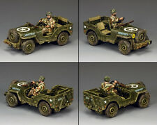 KING AND COUNTRY Airborne Jeep WW2 MG53 MG053